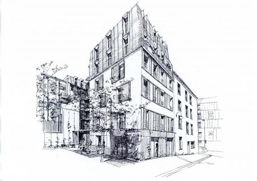 Construction d'un ensemble immobilier de 15 logements sociaux et espaces de commerces