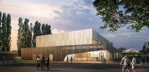 Construction d'un gymnase intercommunal à Puiseux en France (95)