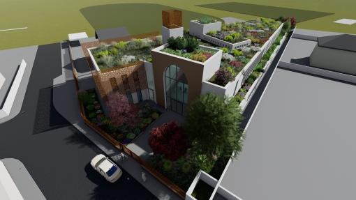 Construction du centre culturel musulman à Grenoble (38)