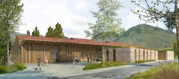 Groupe scolaire à énergie positive à Vercheny (26)