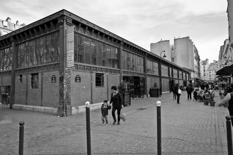 Marché couvert de la Chapelle à Paris (75)