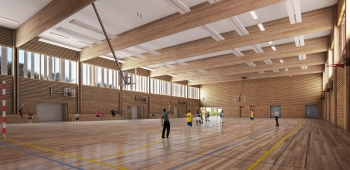 Construction d'un gymnase intercommunal à Puiseux en France (95)
