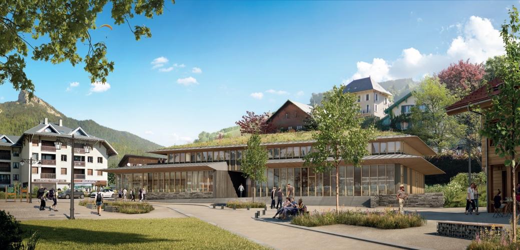 Construction de la Maison du Parc Naturel de Chartreuse & du Siège de l'Office du Tourisme Cœur de Chartreuse à Saint Pierre de Chartreuse